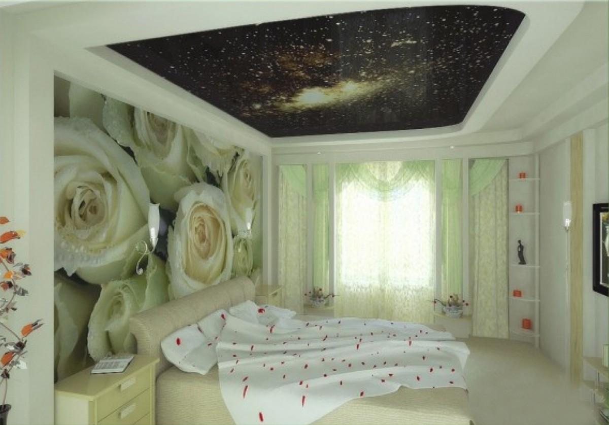 натяжной потолок с фотопечатью в спальне фото такое событие могло